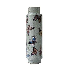 Vaso de Porcelana com Borboletas Fino