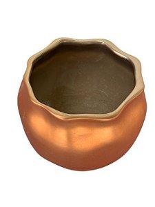 Pote de Cerâmica Cobreado