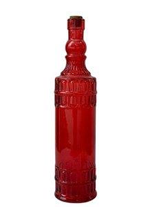 Garrafa de Vidro Indiana Colorida Redonda
