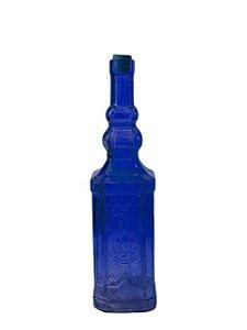 Garrafa de Vidro Indiana Colorida Quadrada