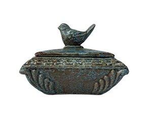Porta Joias de Cerâmica com Passarinho