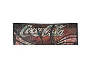 Quadro Coca Cola 0,50m X 1,50m - Tela Hibrida Impressa com Intervenção de Tinta Acrílica