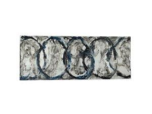 Quadro Abstrato Colorido 0,90m X 2,30m - Acrílico Sobre Tela