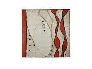 Quadro Abstrato 1,40m X 1,40m - Acrílico Sobre Tela