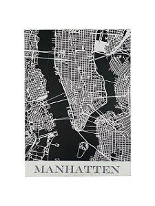 Quadro Manhattan 0,80m X 0,80m - Tela Impressa