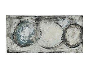 Quadro Abstrato Bolas 1,00m X 2,00m - Acrílico Sobre Tela
