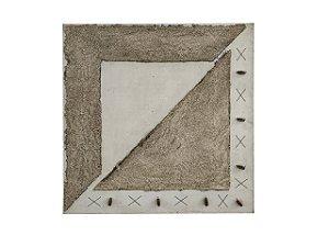Quadro Abstrato Texturizado 1,00m X 1,00m - Tela em Alto Relevo 2
