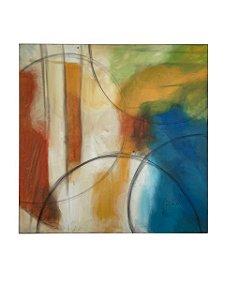 Quadro Abstrato 1,36m X 1,36m - Acrílico Sobre Tela