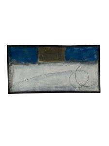 Quadro Abstrato com Moldura 0,30m X 0,60m - Acrílico Sobre Tela