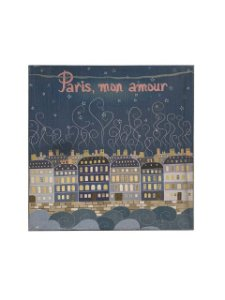 Quadro Paris Mon Amour 0,50m X 0,50m - Tela Impressa