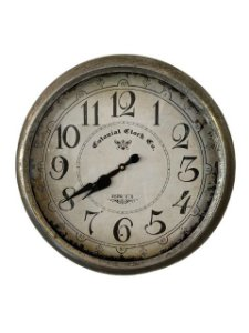 Relógio De Parede Estilo Antigo - 50cm Diâmetro - Maquinário de Quartzo