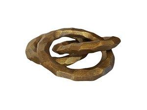 Escultura 3 Anéis em Alumínio