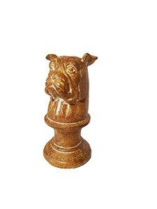Escultura Cabeça de Bulldog Inglês em Resina