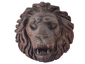 Cara de Leão em Ferro Fundido - Grande
