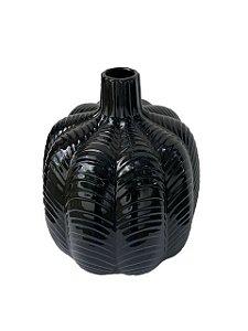 Vaso Decorativo em Cerâmica Preto