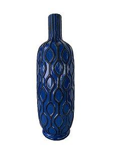 Jarro Centro de Mesa em Cerâmica Azul Escuro