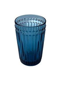 Copo de Vidro Azul