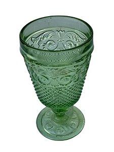 Taça Decorativa de Vidro Verde