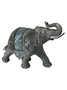 Elefante Decorativo Indiano Cinza