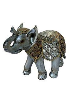 Elefante Decorativo Indiano Prata