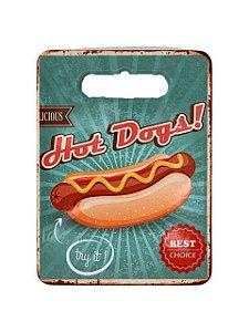 Azulejo e Tábua com Fundo de Borracha de Corte Hot Dog