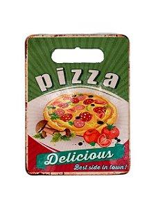 Azulejo e Tábua com Fundo de Borracha de Corte Pizza
