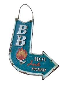 Placa Decorativa Seta Curva BB Hot