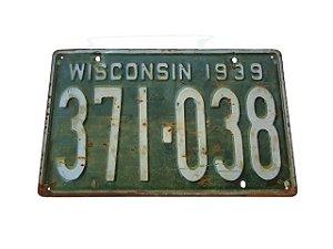 Placa Decorativa Wisconsin 1939