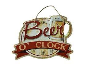 Placa Decorativa Beer O Clock