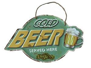Placa Decorativa Gold Beer