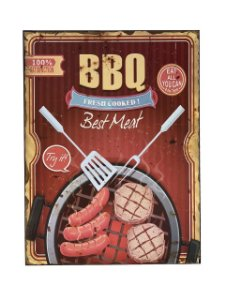 Placa Decorativa Beat Meat