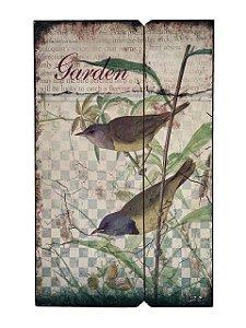Quadro Decorativo de Madeira Garden