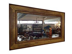 Espelho Retangular Grande em Madeira de Demolição