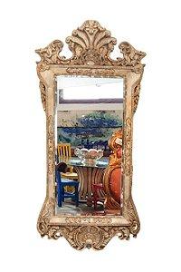 Espelho Barroco Bisotado em Resina