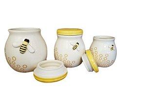 Pote Decorativo de Cerâmica Abelha