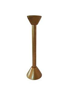 Castiçal de Mesa em Resina Dourado