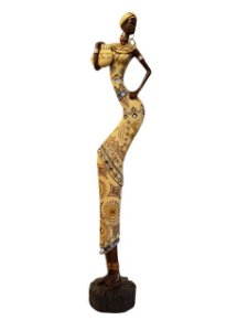 Escultura com Espelhos Mulher em Resina