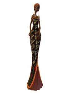 Escultura Mulher Africana em Resina