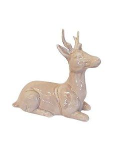 Escultura Veado Alce de Porcelana Pequeno