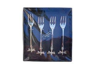 Kit de 4 Garfos Inox para Sobremesa