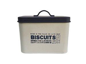 Pote Decorativo com Tampa Retangular Biscuits