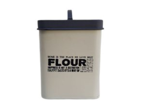Pote Decorativo com Tampa Quadrado Flour