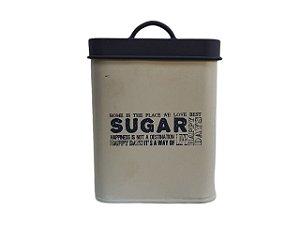 Pote Decorativo com Tampa Quadrado Sugar