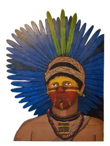 Quadro Artesanal Índio Brasileiro