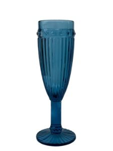 Taça Decorativa de Vidro Fina Azul