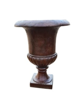 Vaso Ânfora de Ferro Fundido Liso Século XIX Média