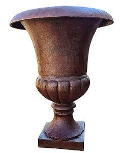 Vaso Ânfora de Ferro Fundido Liso Século XIX Grande