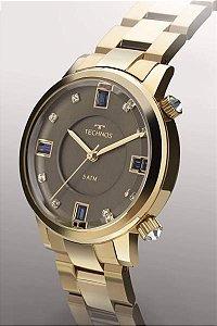 Relógio Technos Rocks Feminino Dourado 2039bu/k4c