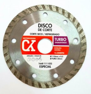 Disco Diamantado Turbo 110 mm x 8,0