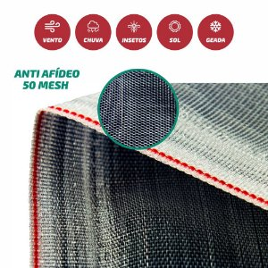 Tela Antiafídio / Antivírus 5O Mesh Branca 3X50M